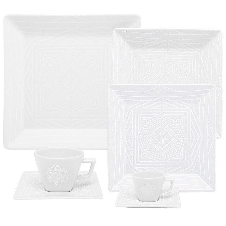 Aparelho De Jantar/Chá/Cafezinho 42 Peças Quartier Cosmo - Oxford Porcelanas