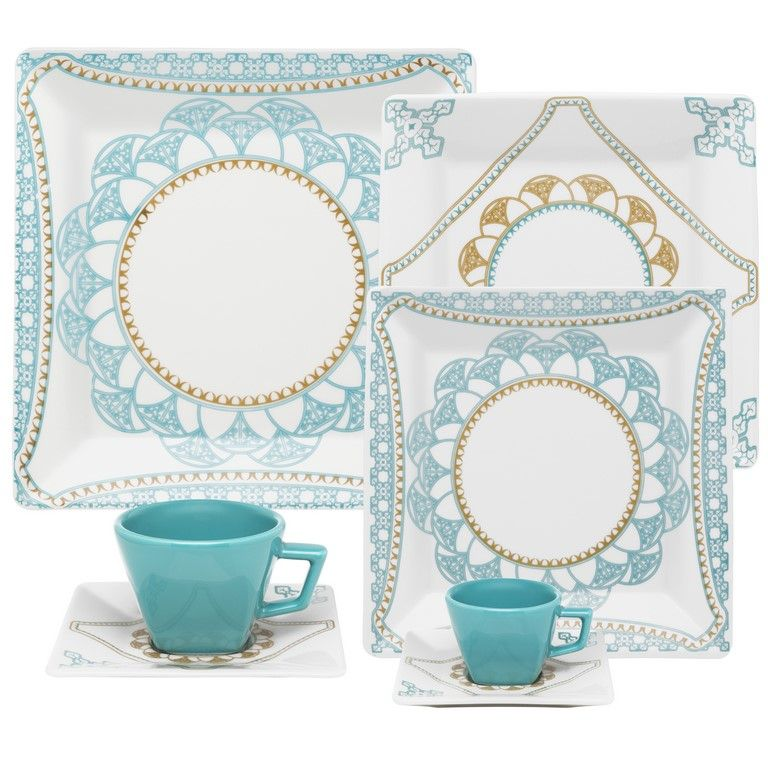 Aparelho De Jantar/Chá/Cafezinho 42 Peças Quartier Domo - Oxford Porcelanas