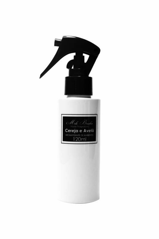 Aromatizante Spray Black & White - 120Ml - Cereja E Avelã- Mels Brushes