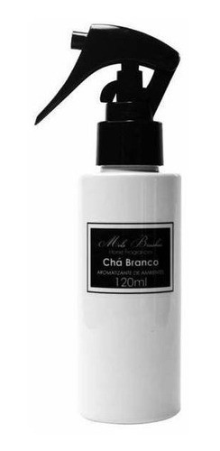 Aromatizante Spray Black & White - 120Ml - Chá Branco- Mels Brushes