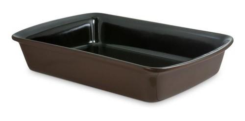 Assadeira De Cerâmica Ceraflame Retangular 30X20Cm 2000Ml Chocolate