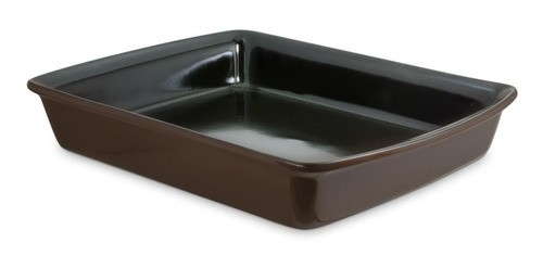 Assadeira De Cerâmica Ceraflame Retangular 34X26Cm 3000Ml Chocolate