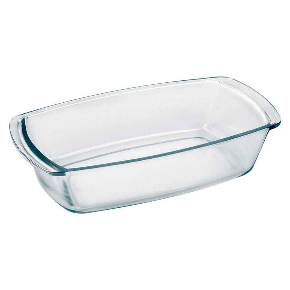 Assadeira De Vidro Para Pão Retangular C/ Alça 1,8 L Transparente Oxford Biona