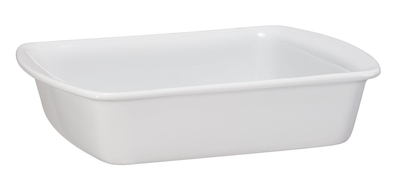 Assadeira Retangular De Cerâmica Ceraflame 23 X 18Cm 1000Ml - Branco