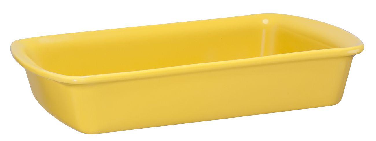 Assadeira Retangular De Cerâmica Mondoceram 30 X 19Cm 1700Ml  -  Amarelo