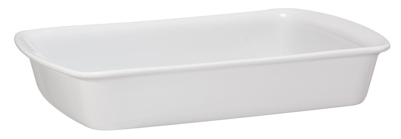 Assadeira Retangular De Cerâmica Mondoceram 30 X 19Cm 1700Ml  -  Branco