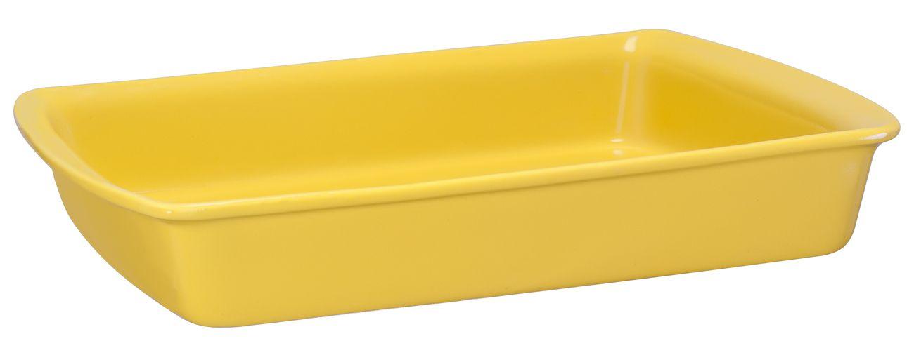 Assadeira Retangular De Cerâmica Mondoceram 33 X 25Cm 2500Ml  -  Amarelo