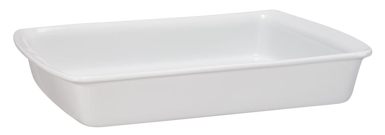 Assadeira Retangular De Cerâmica Mondoceram 33 X 25Cm 2500Ml -  Branco