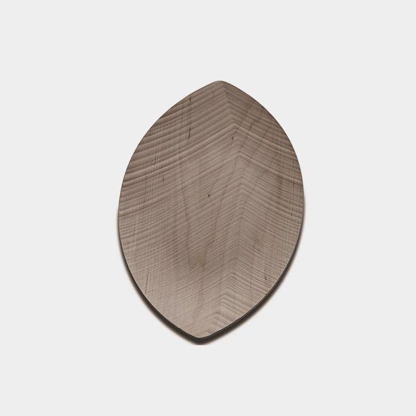 Bandeja Leaf Legnoart Em Madeira Clara Pequena