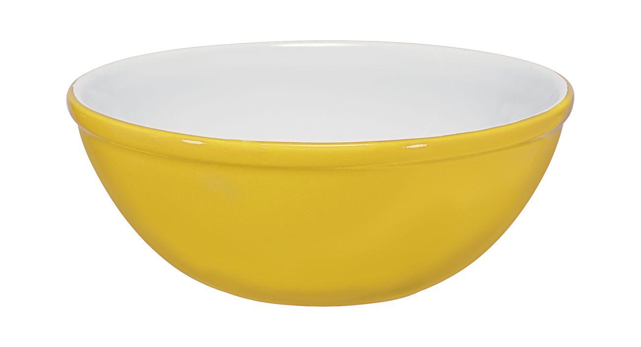 Bowl De Cerâmica Mondoceram 13Cm 250Ml  -  Amarelo
