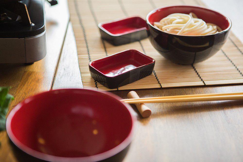 Bowl  De Cerâmica 13Cm Matsuri Preto/Vermelho