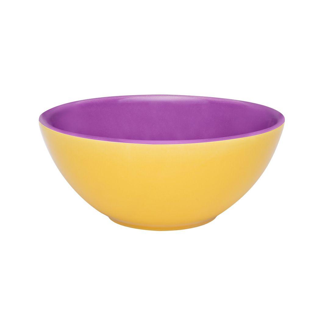 Bowl De Cerâmica 16Cm 600Ml - Bicolor - Amarelo/Violeta - Oxford Porcelanas