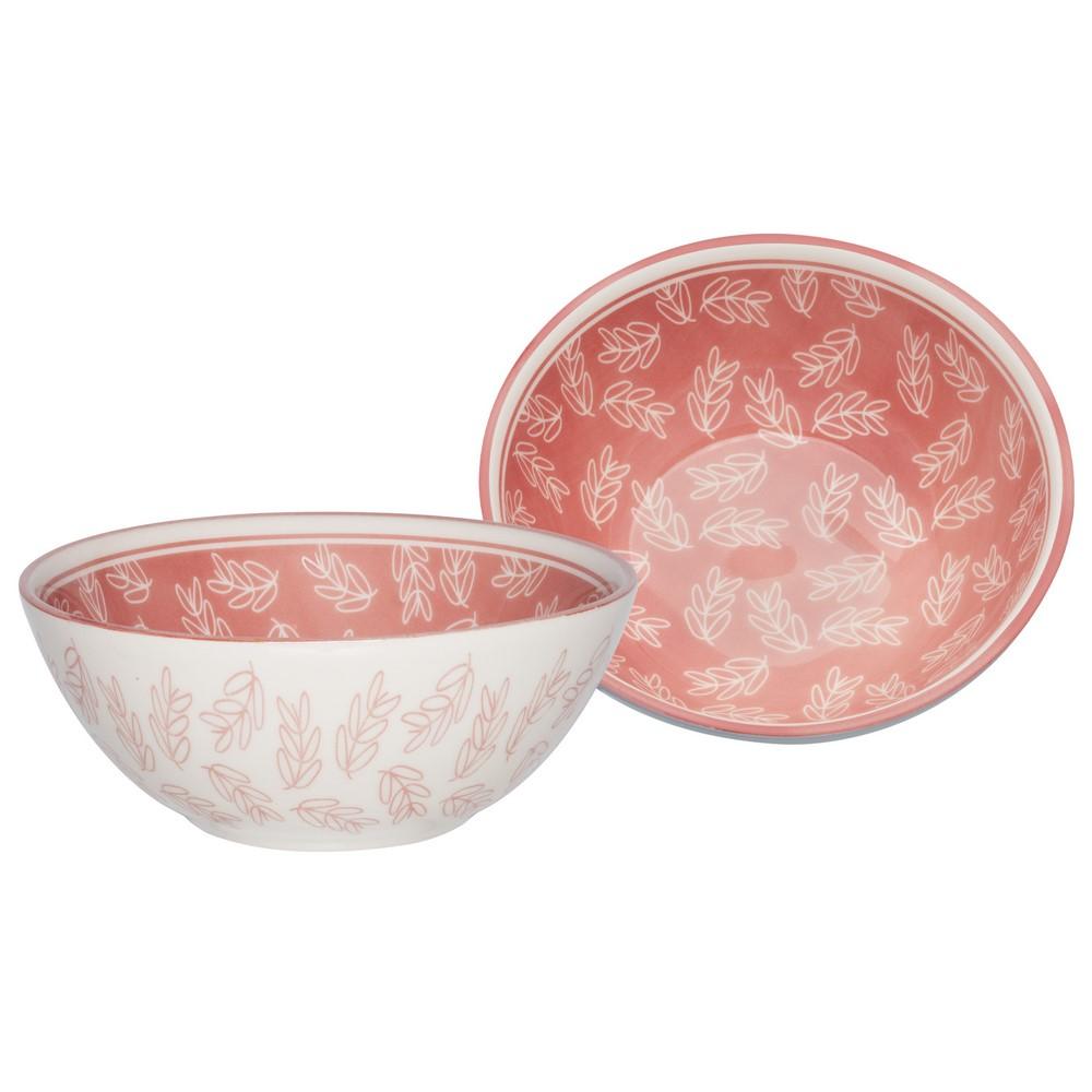 Bowl De Cerâmica 16Cm 600Ml - Flora Rosa - Oxford Daily