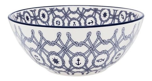 Bowl De Cerâmica 16Cm 600Ml - Floreal Náutico - Oxford Daily
