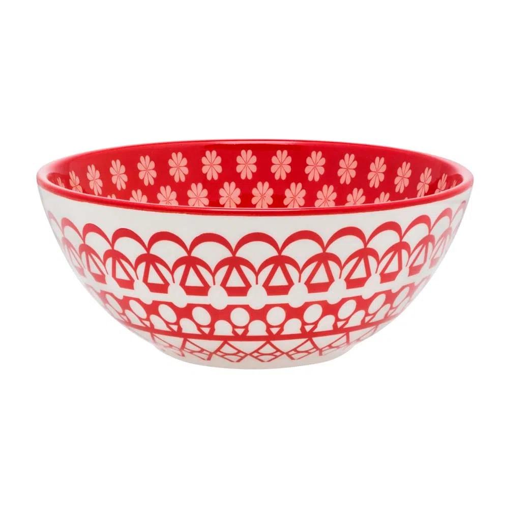 Bowl De Cerâmica 16Cm 600Ml - Floreal Renda - Oxford Daily
