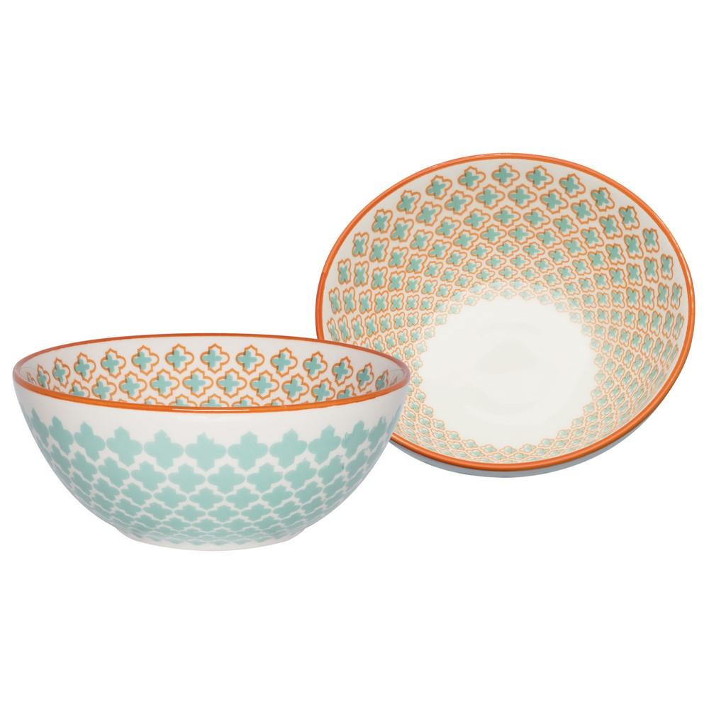 Bowl De Cerâmica 16Cm 600Ml - Mosaico Verde - Oxford Daily