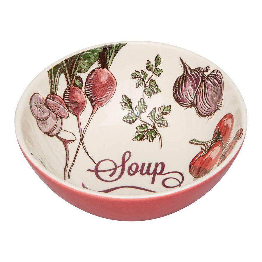 Bowl De Cerâmica 16Cm 600Ml - Temática Soup - Oxford Daily