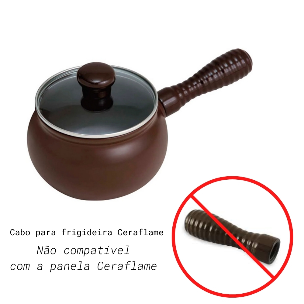 Cabo Para Frigideira Premiere Chocolate