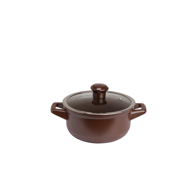 Caçarola De Cerâmica Ceraflame Duo 18Cm 1500Ml Chocolate