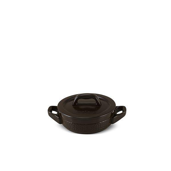 Caçarola Baixa De Cerâmica Martelada 14Cm 550Ml Chocolate - Ceraflame