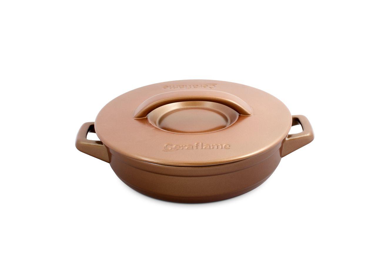 Frigideira Com Alça De Cerâmica Ceraflame 24cm  Duo+ Cobre