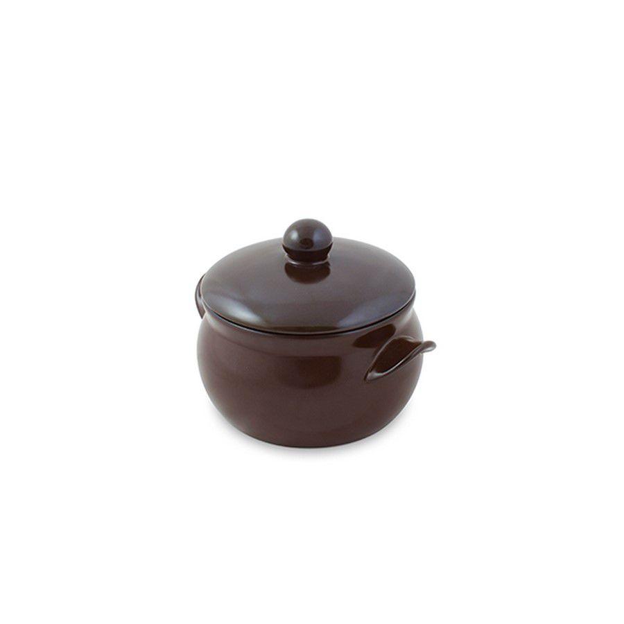 Mini Caçarola De Cerâmica Ceraflame 11Cm 500Ml Premiere+ Chocolate