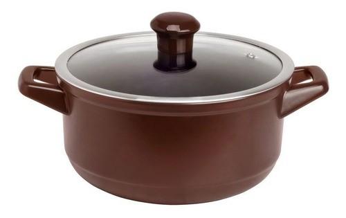 Caçarola De Cerâmica Ceraflame 22Cm 3200Ml Duo Chocolate