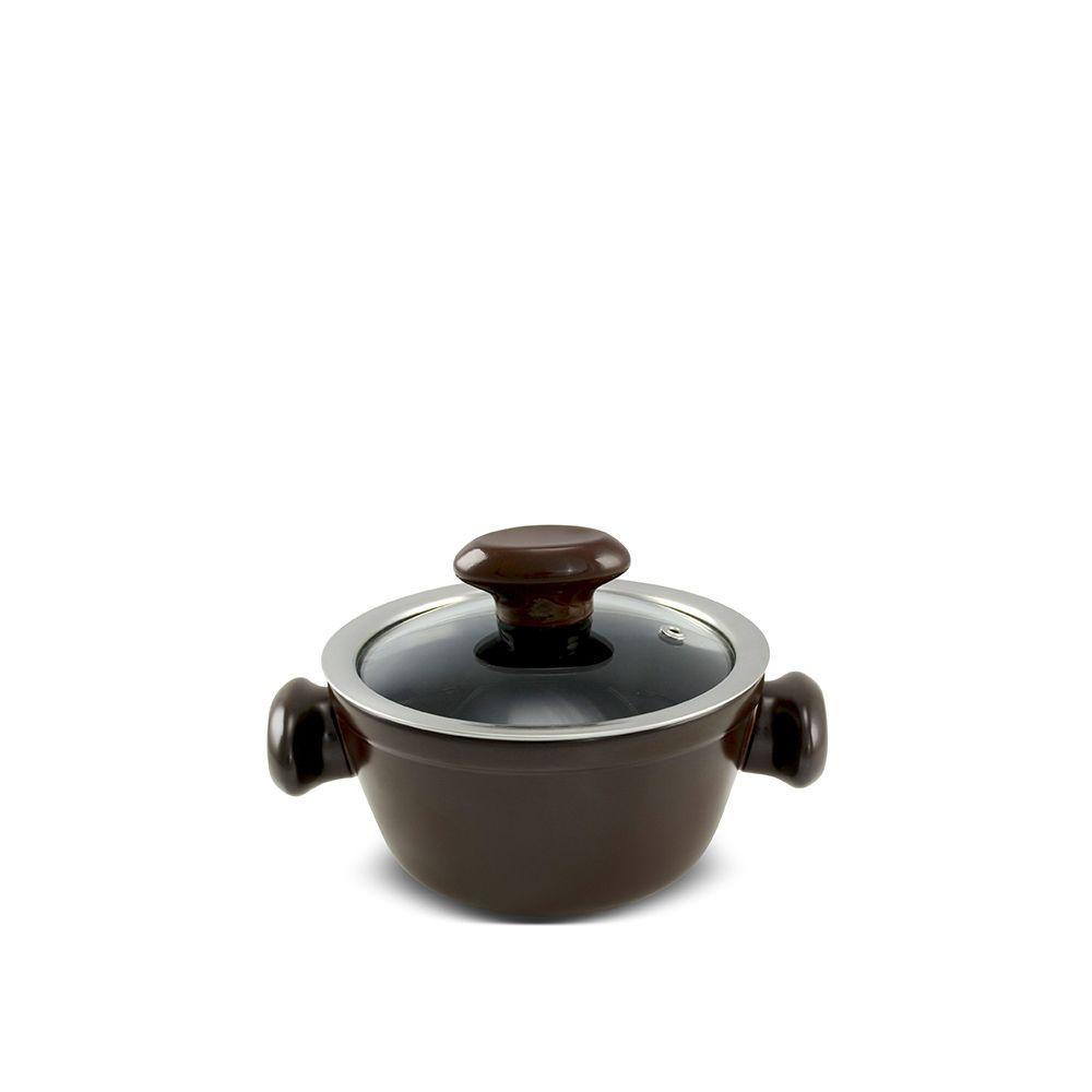 Caçarola De Cerâmica Ceraflame Chef 14Cm 700Ml - Chocolate
