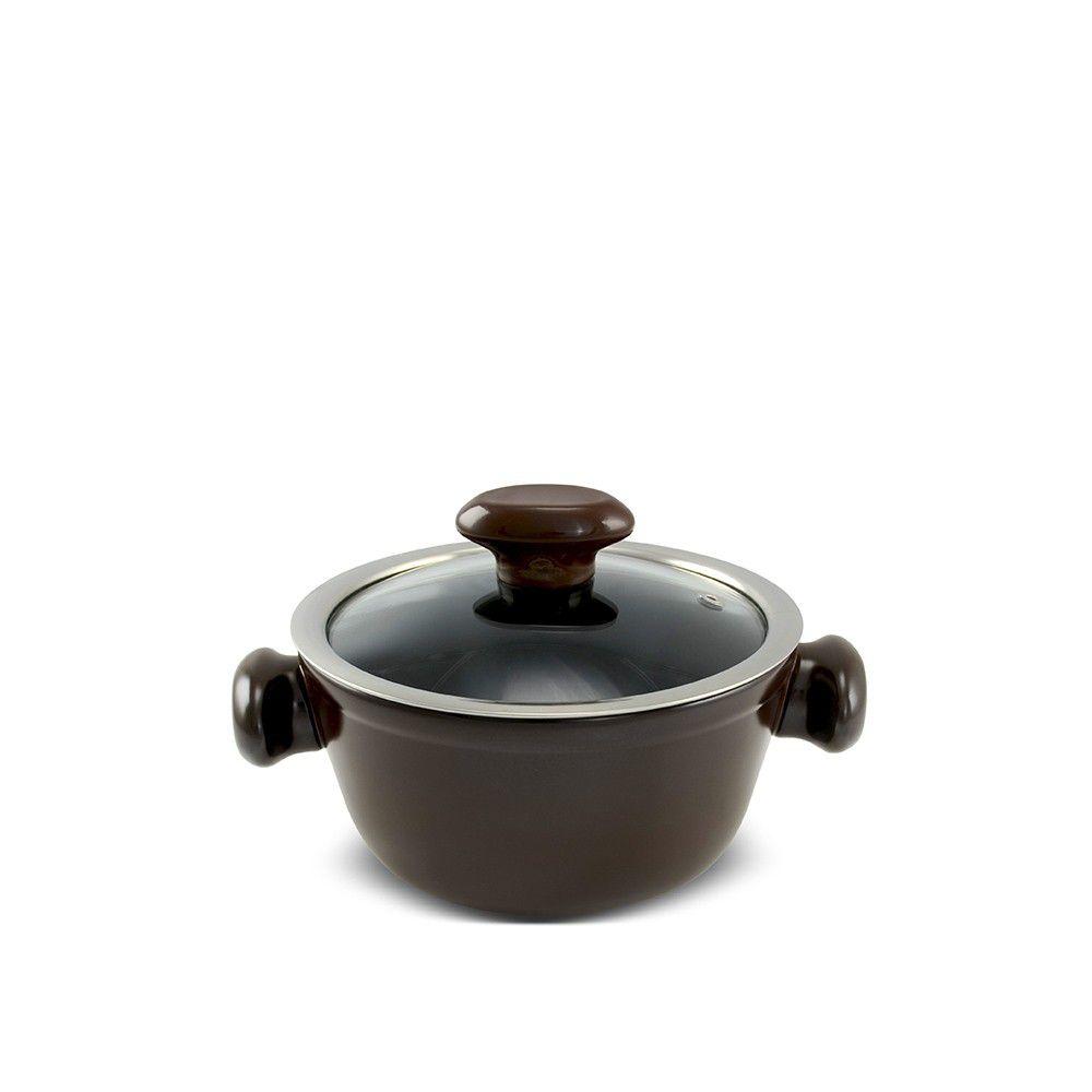 Caçarola De Cerâmica Ceraflame Chef 16Cm 1000Ml - Chocolate