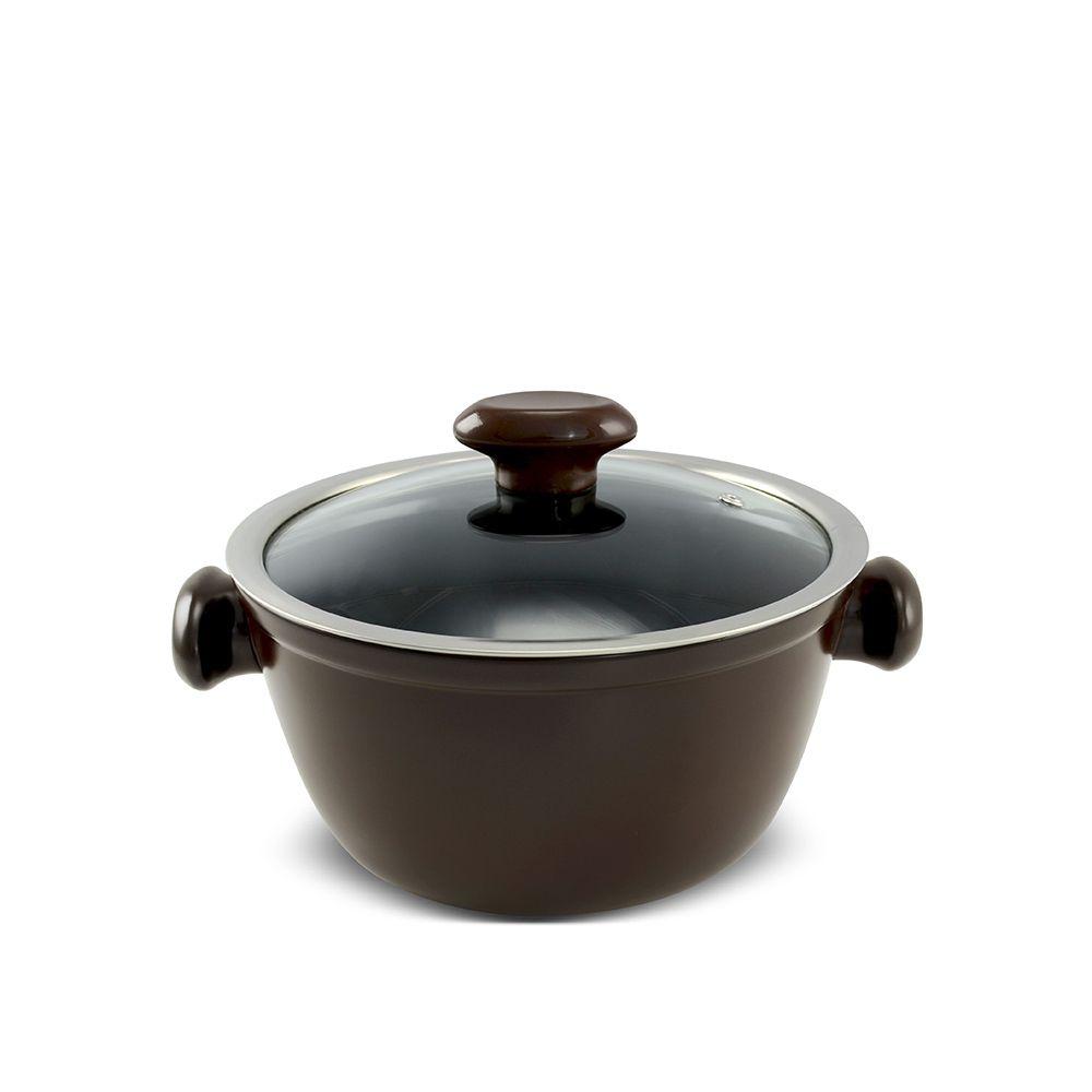 Caçarola De Cerâmica Ceraflame Chef 20Cm 2200Ml - Chocolate