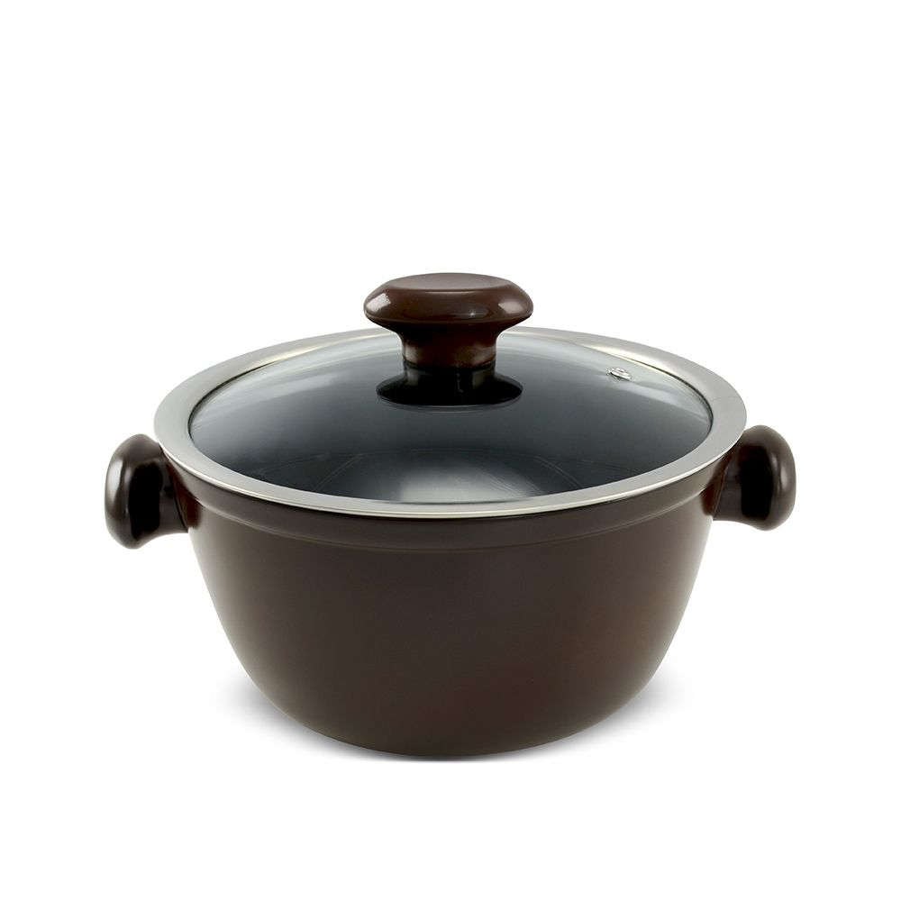 Caçarola De Cerâmica Ceraflame Chef 22Cm 3000Ml - Chocolate