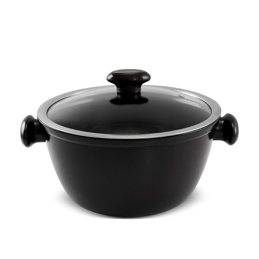 Caçarola De Cerâmica Ceraflame Chef 24Cm 3500Ml - Preto