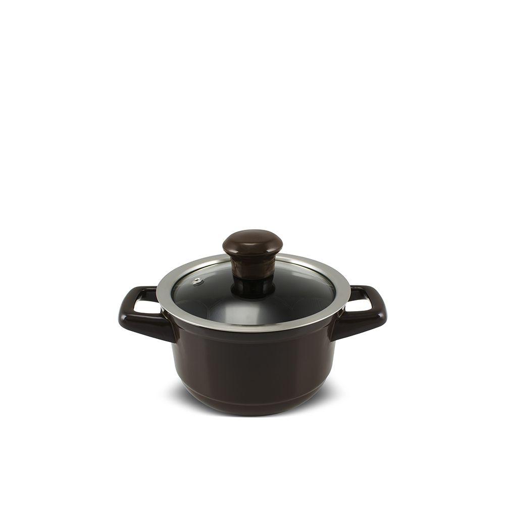 Caçarola De Cerâmica Ceraflame Duo 14Cm 1000Ml - Chocolate