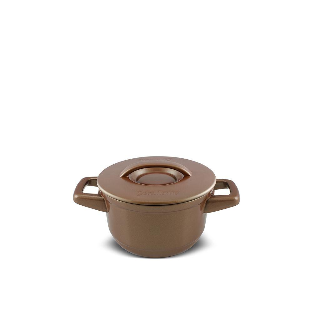 Caçarola De Cerâmica Ceraflame Duo+ 14Cm 900Ml - Cobre