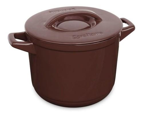 Caçarola De Cerâmica Ceraflame Duo+ 24Cm Alta Chocolate