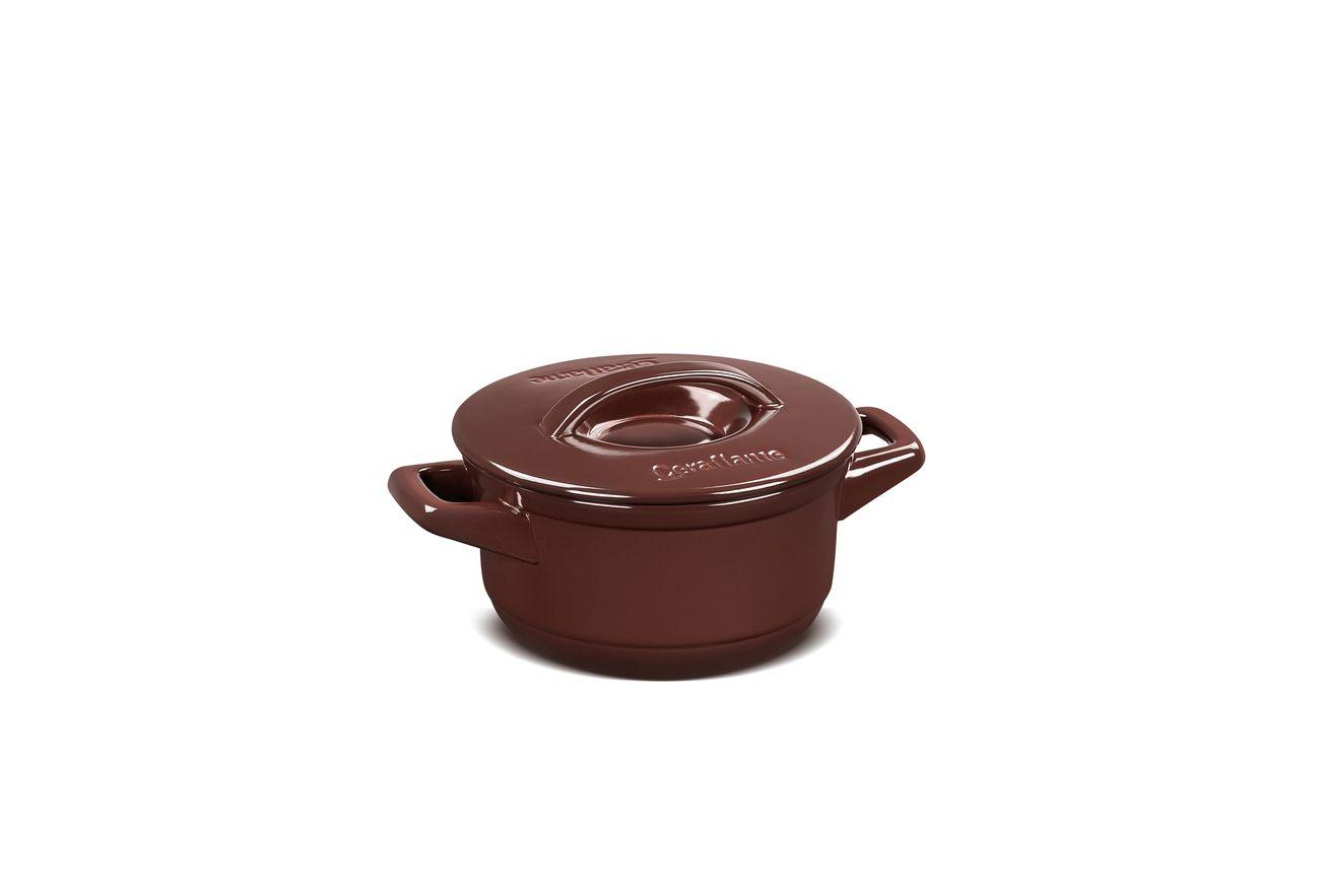 Caçarola De Cerâmica Ceraflame Duo+ 16Cm Chocolate
