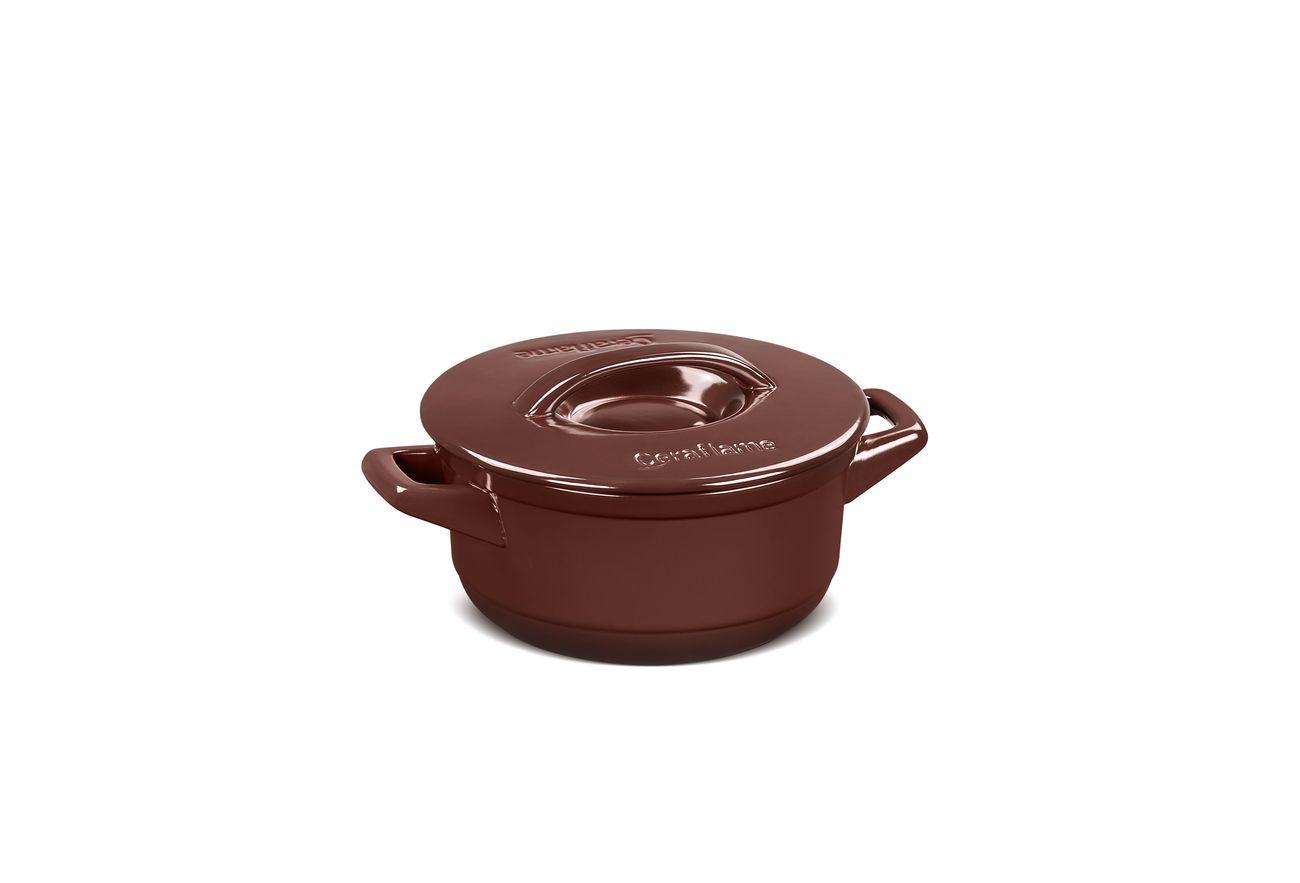 Caçarola De Cerâmica Ceraflame Duo+ 18Cm Chocolate
