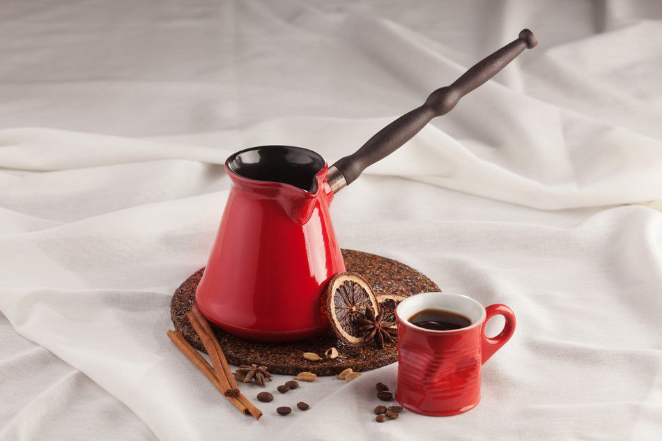 Café Turco De Cerâmica Ceraflame (Ibrik) Tropeiro 150Ml Pomodoro