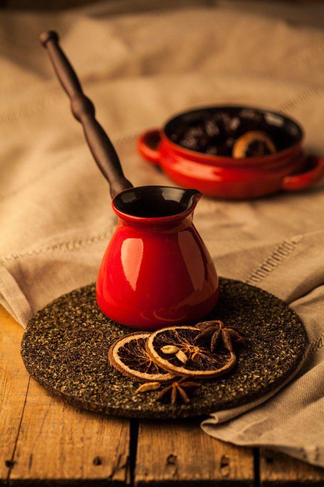 Café Turco (Ibrik) De Cerâmica Ceraflame Colonial 240Ml Pomodoro