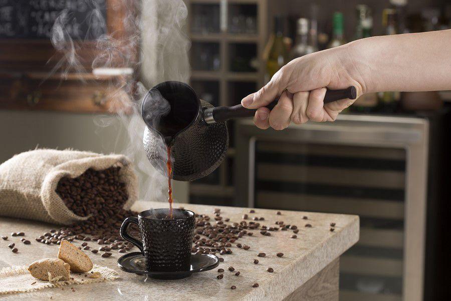 Café Turco (Ibrik) De Cerâmica Ceraflame Martelado 350Ml Chocolate