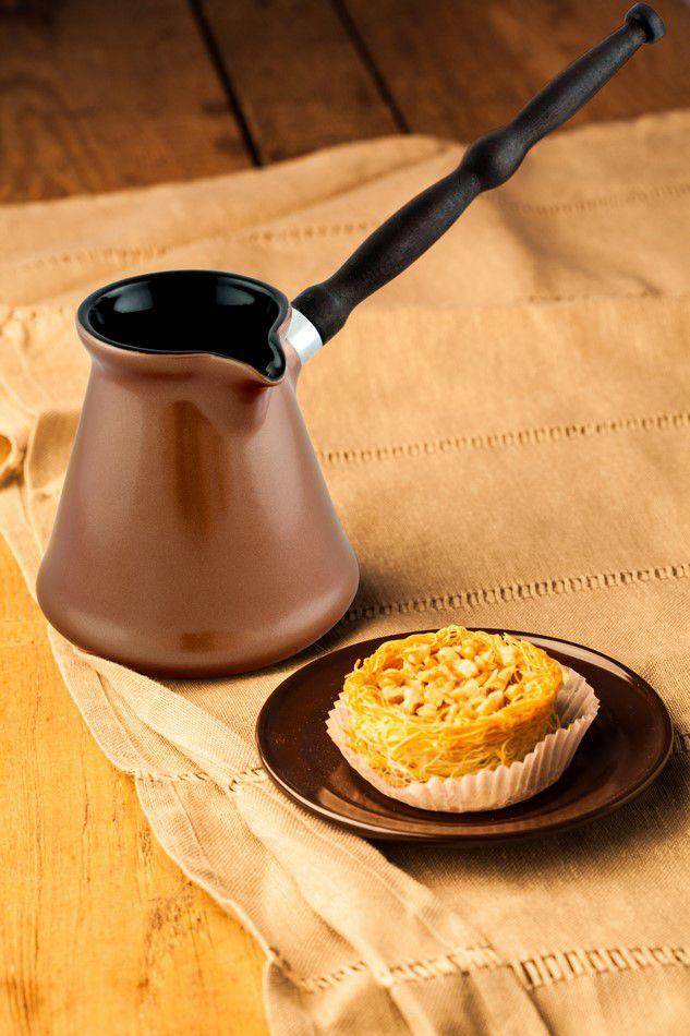 Café Turco (Ibrik) De Cerâmica Ceraflame Tropeiro 150Ml Cobre
