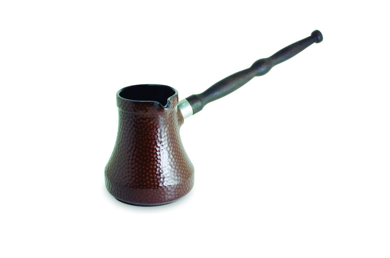 Café Turco (Ibrik) De Cerâmica Ceraflame Martelado 240Ml Chocolate