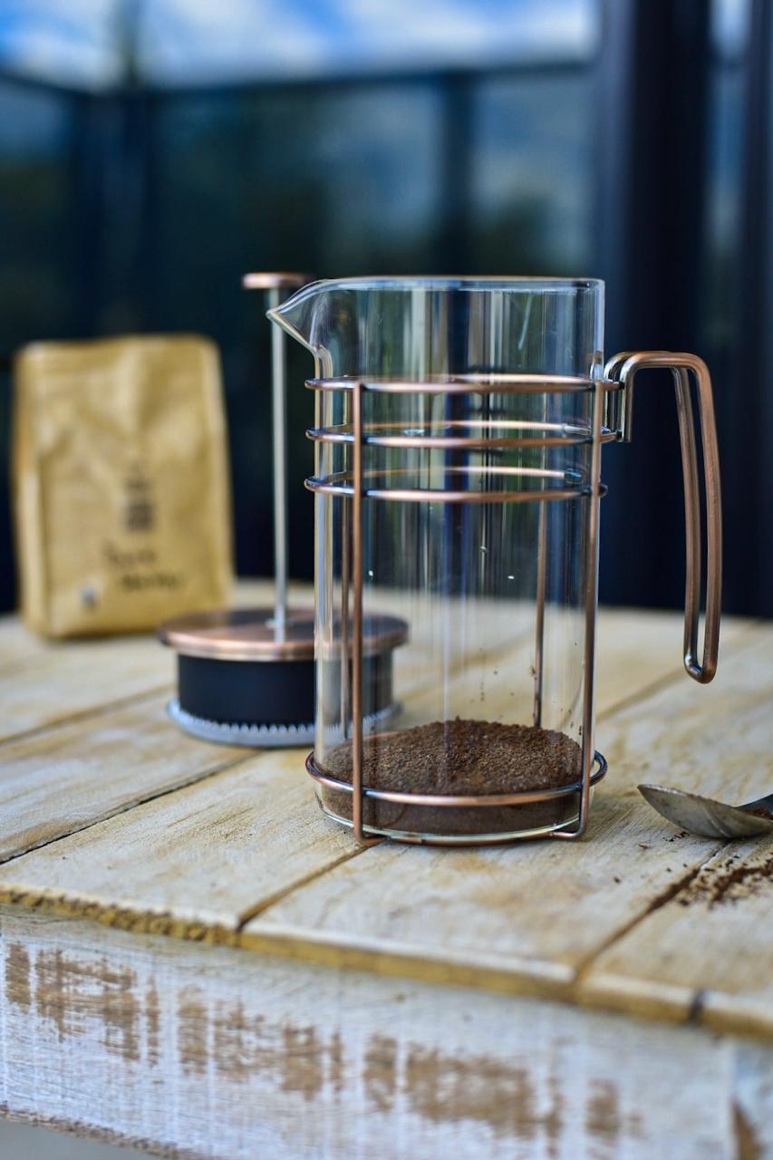 Cafeteira Prensa Francesa Em Vidro E Aço Inox 1000Ml - Oxford