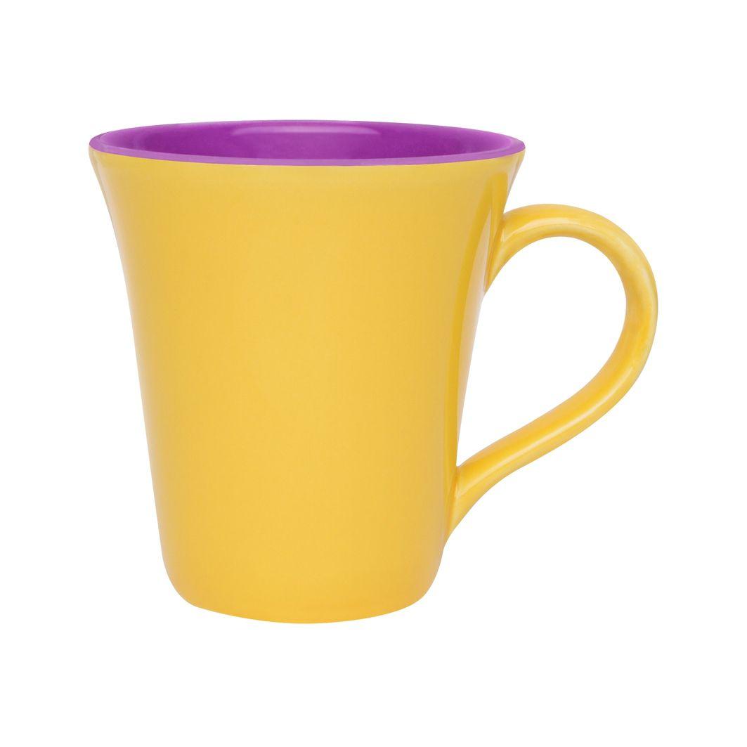 Caneca Bicolor 330Ml - Tulipa - Amarelo/Violeta - Oxford Daily