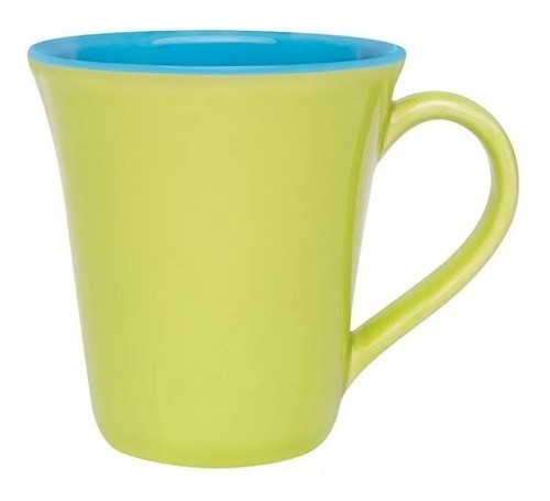 Caneca Bicolor 330Ml - Tulipa - Verde/Azul - Oxford Porcelanas