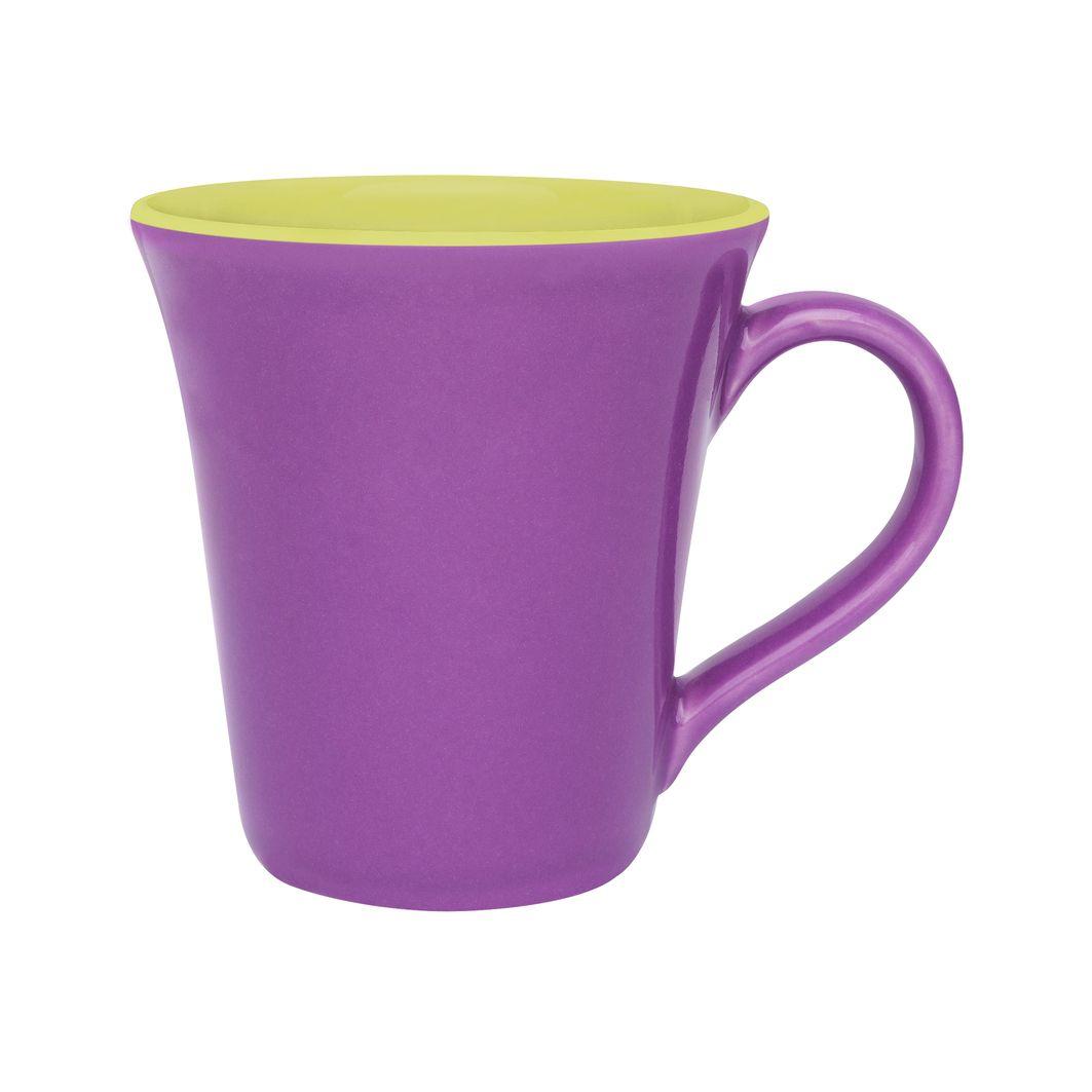 Caneca Bicolor 330Ml - Tulipa - Violeta/Verde - Oxford Porcelanas