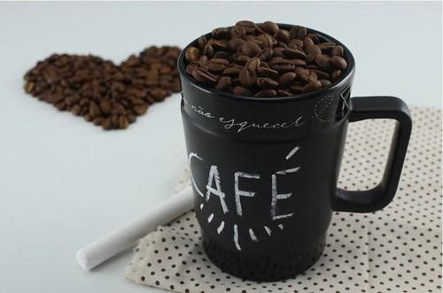 Caneca De Cerâmica Ceraflame Coffee To Go 300Ml - Preto Fosco (Giz)