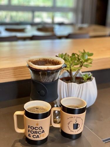 Caneca De Cerâmica Ceraflame Coffee To Go Foco 150Ml - Pardo Fosco