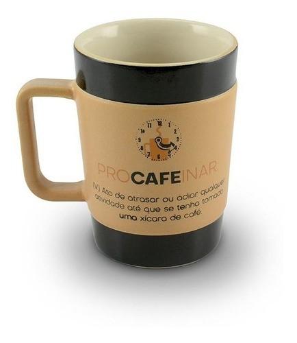 Caneca De Cerâmica Ceraflame Coffee To Go Procafeinar 150Ml - Pardo Fosco