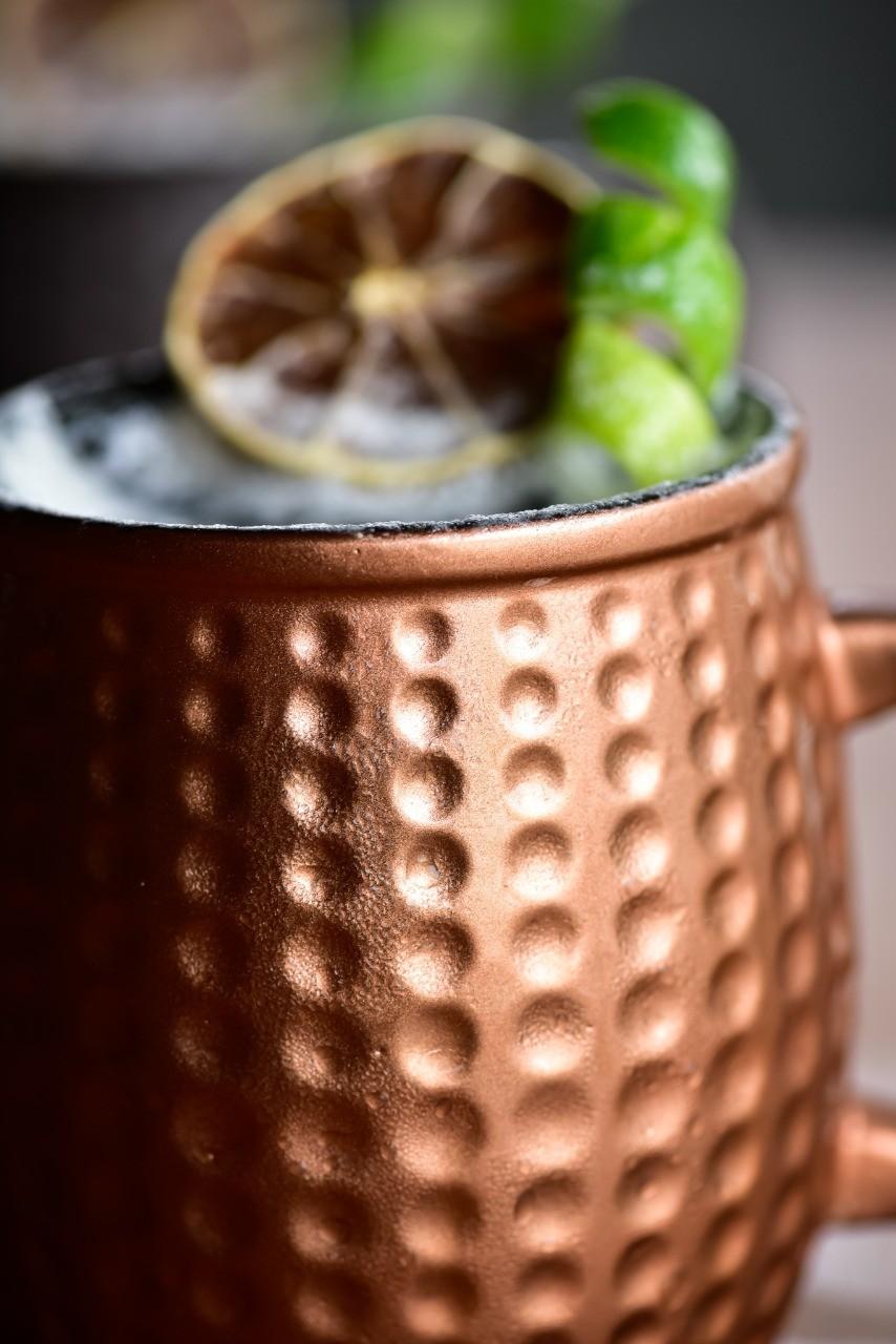 Caneca De Cerâmica Ceraflame Moscow Mule Cobre Envelhecido